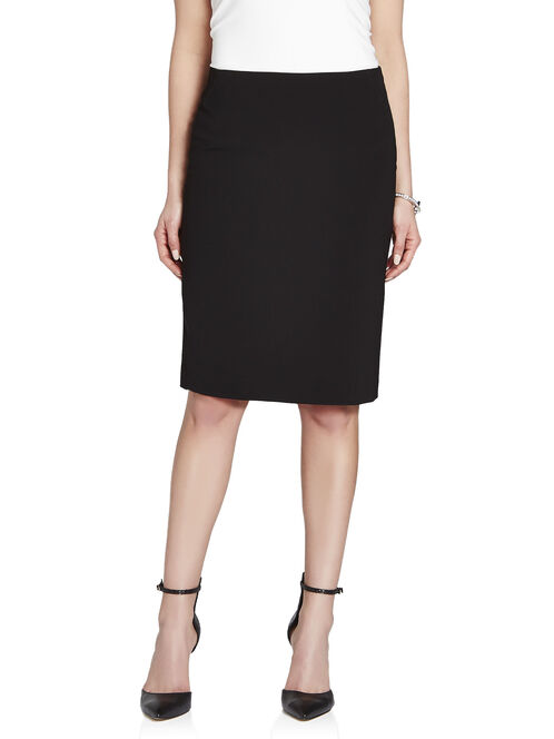 No Waist Seam Detail Pencil Skirt, Black, hi-res
