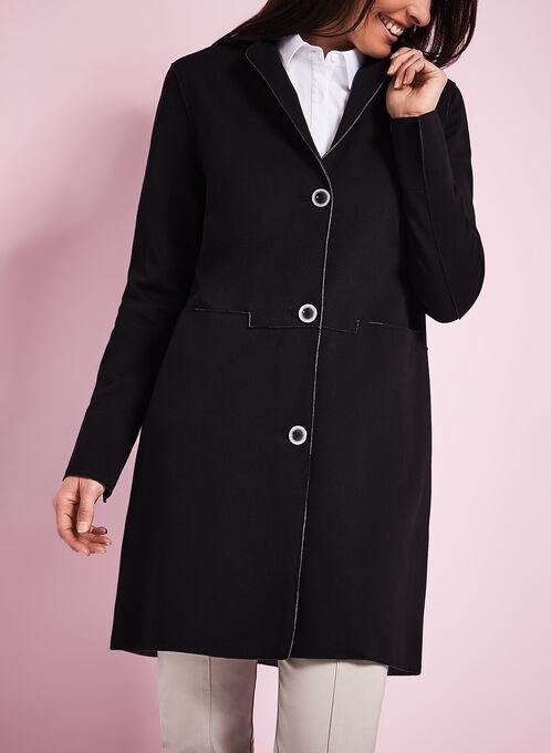 Nuage Notch Collar Coat, Black, hi-res