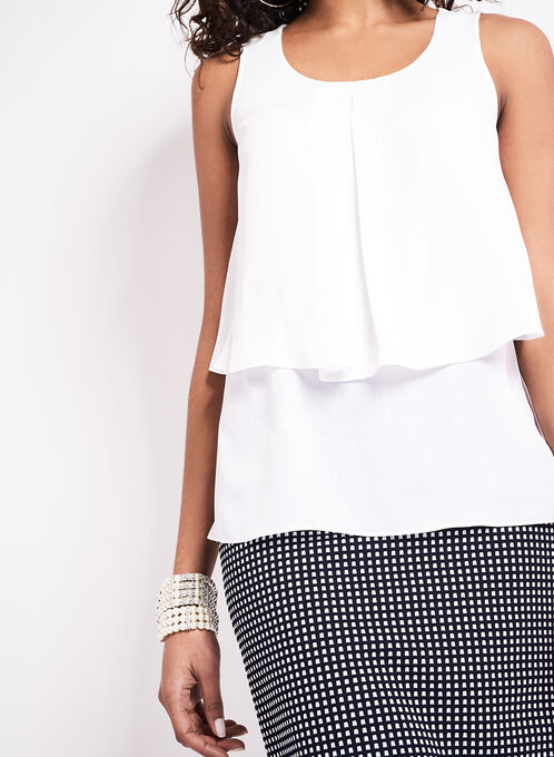 Sleeveless Popover Blouse, Off White, hi-res