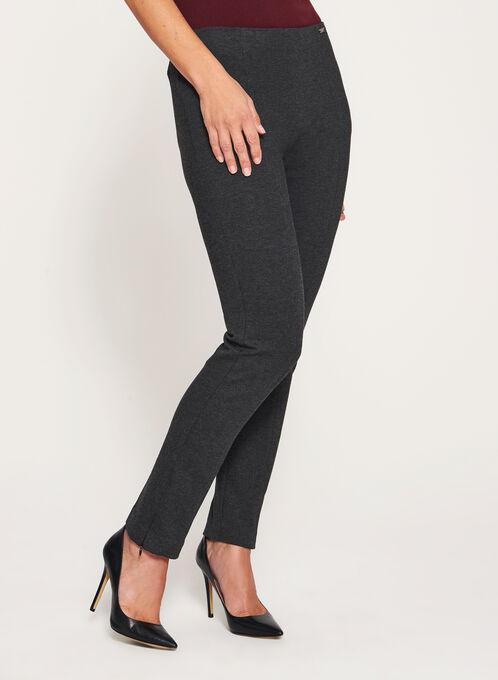 City Fit Slim Leg Ponte Pants, Grey, hi-res