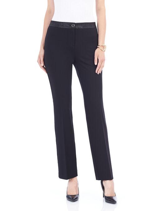 Ponte Modern Fit Straight Leg Pants, Black, hi-res