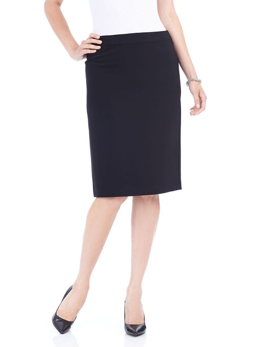 Knee-Length Pencil Skirt , Black, hi-res
