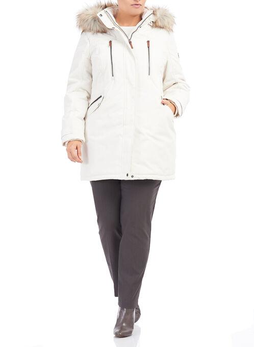 Novelti Polyfill Faux Fur Jacket , Off White, hi-res
