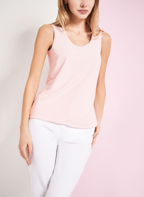 Scoop Neck Tank Top, Pink, hi-res