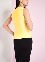 Sleeveless Jersey Tank Top, Yellow, hi-res