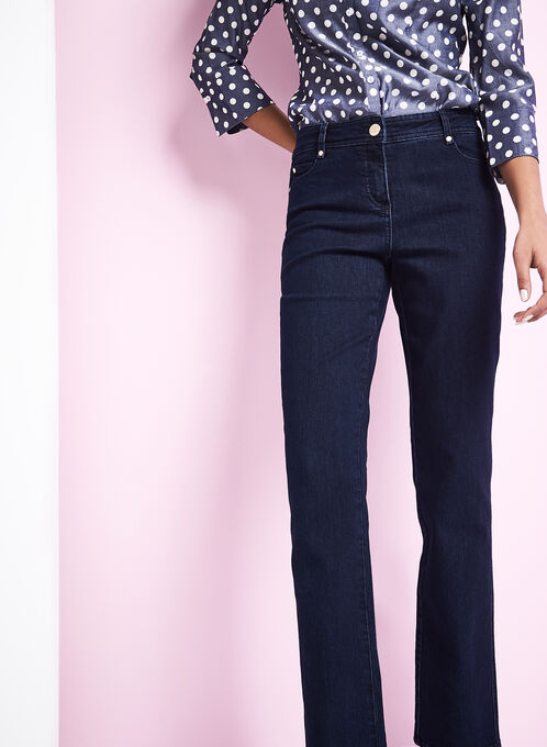 Modern Fit Straight Leg Jeans , Blue, hi-res