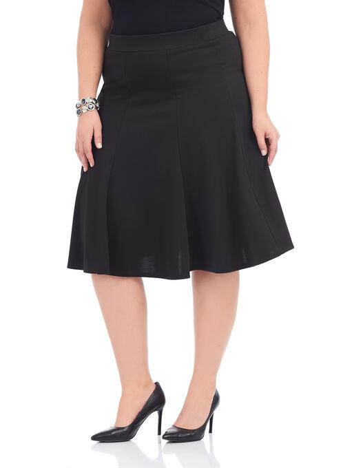 Ponte Trumpet Skirt, Black, hi-res