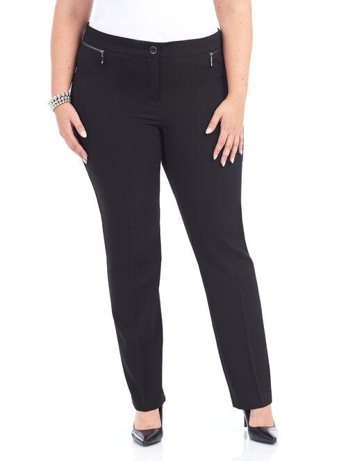 Tummy Control City Fit Pants, Black, hi-res