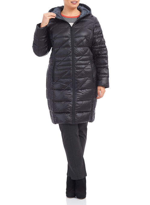 B by Bernardo Packable Jacket, Black, hi-res