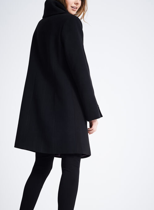 Marcona Wool-Like Coat , Black, hi-res