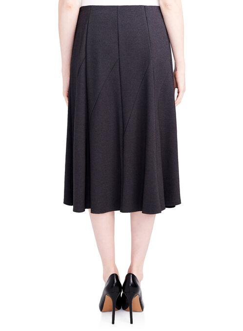 Gored Ponte Skirt, Grey, hi-res