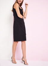 Sleeveless Side Tuck Jersey Dress, Black, hi-res