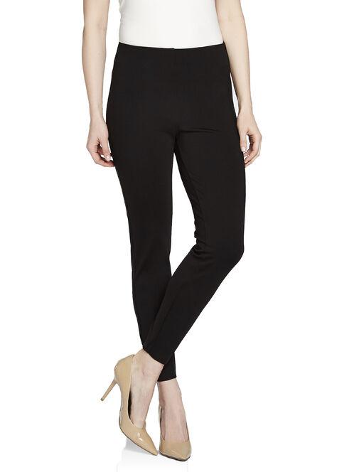 Solid Pull-On Leggings, Black, hi-res