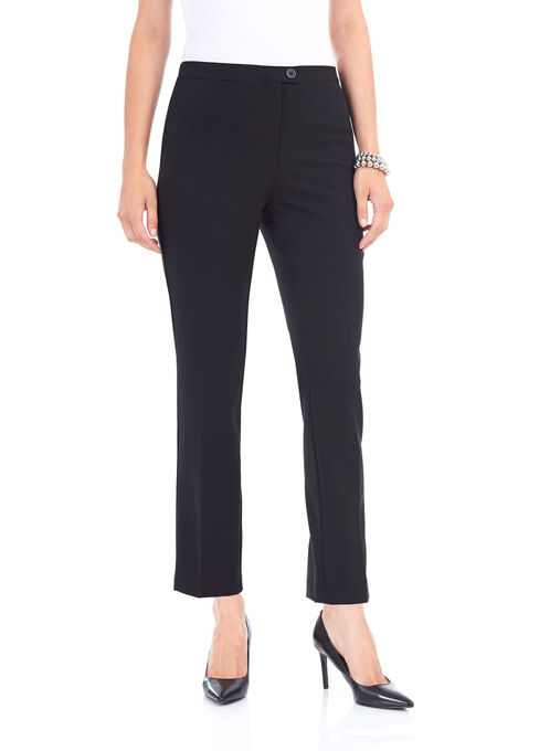 Straight Leg Pants, Black, hi-res