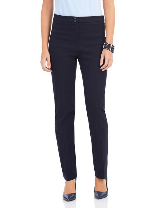 Textured Straight Leg Pants, Blue, hi-res