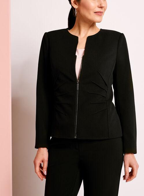 Crêpe Dart Detail Jacket, Black, hi-res