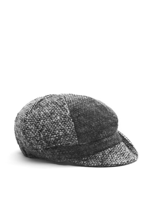 Dégradé Tweed Cap, Grey, hi-res
