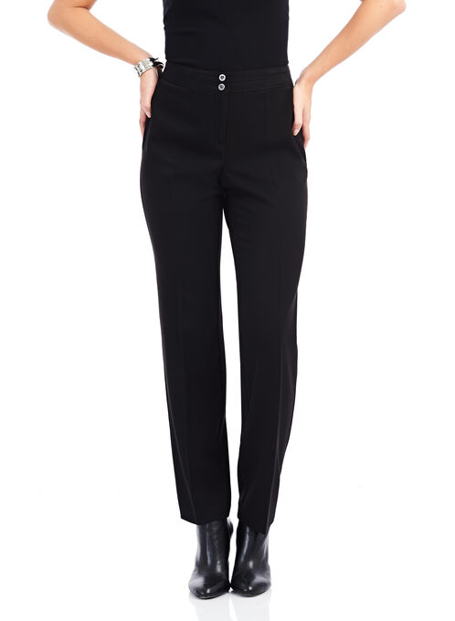 Two Button Modern Fit Pants, Black, hi-res