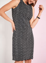 Graphic Print A-Line Shift Dress, Black, hi-res