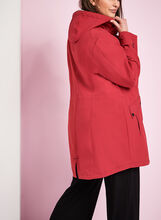 Hooded Jersey Anorak Coat, Red, hi-res
