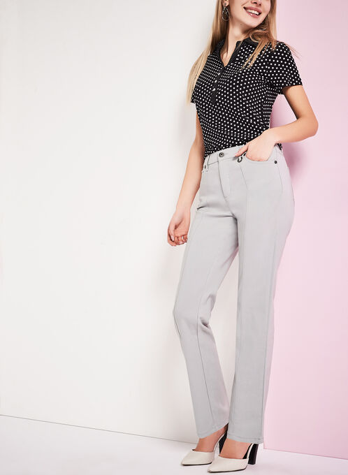 Simon Chang Straight Leg Pants, Grey, hi-res