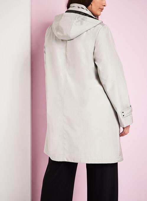 Iridescent A-Line Coat, Silver, hi-res