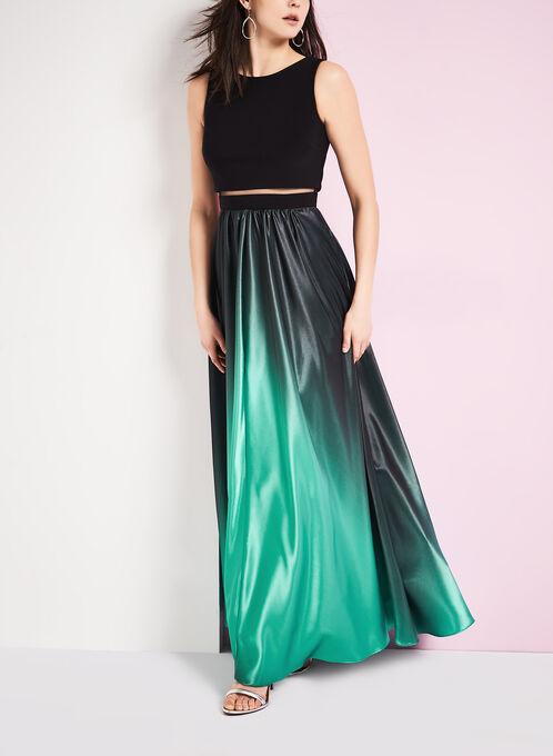 Ombré Popover A-Line Gown, Black, hi-res
