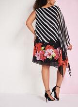 Frank Lyman Cold Shoulder Printed Dress, Black, hi-res