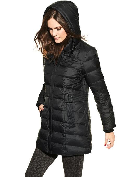 Novelti Faux Fur Down Jacket , Black, hi-res