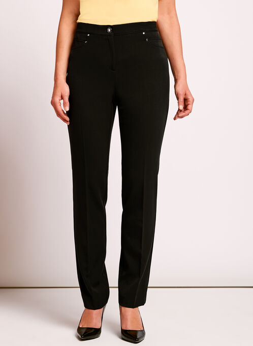 Faux Pocket Signature Fit Pants, Black, hi-res