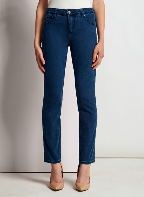 Simon Chang - Signature Fit Slim Leg Jeans, Blue, hi-res