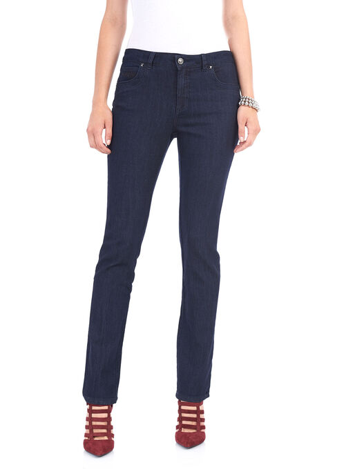 Simon Chang Tummy Control Jeans, Blue, hi-res