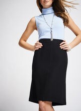 Wool Blend A-Line Skirt , Black, hi-res