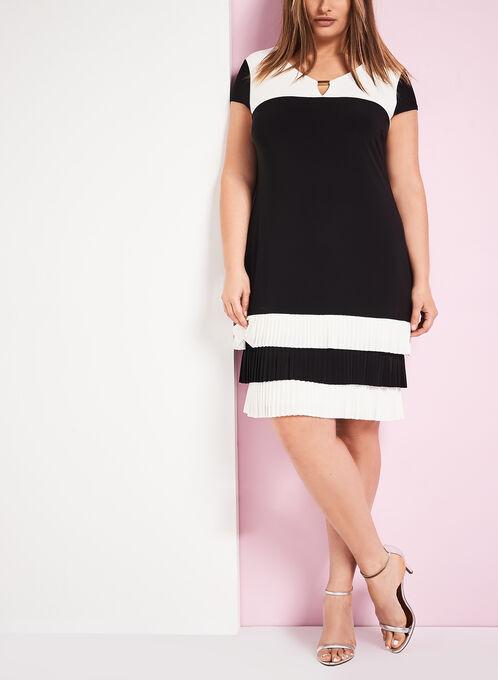Frank Lyman Colour Block Dress, Black, hi-res