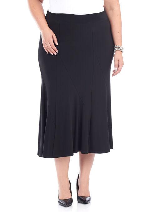 Pull-On A-Line Skirt , Black, hi-res
