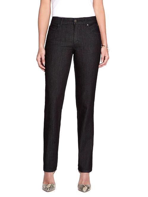 Simon Chang Stud Detail Slim Leg Jeans, Black, hi-res