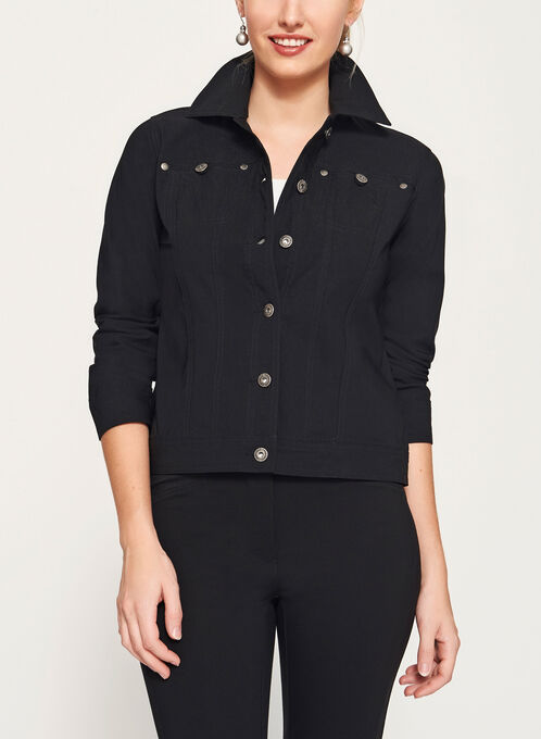 Simon Chang Microtwill Jacket, Black, hi-res