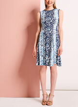 Bamboo Print Fit & Flare Dress, , hi-res