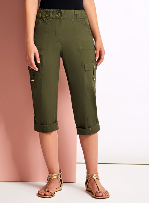 Capri cargo coupe moderne à poches, Vert, hi-res