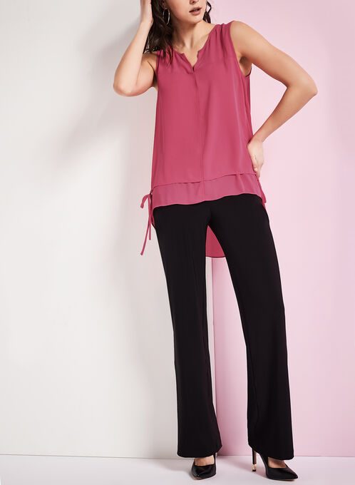 Double Layer Popover Blouse , Pink, hi-res