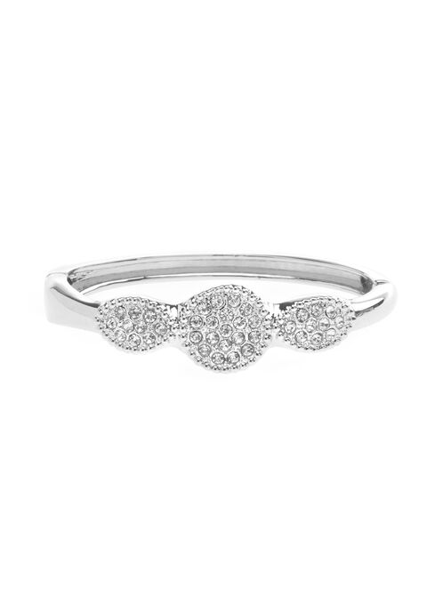 Pavé Bangle Bracelet , Silver, hi-res
