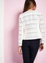 Bouclé Stripe Print Jacket, Blue, hi-res