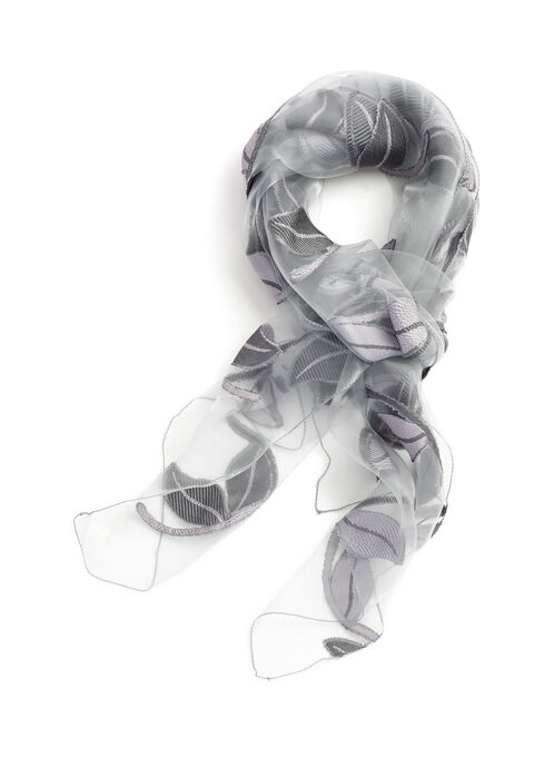 Sheer Jacquard Evening Wrap, Silver, hi-res