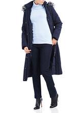 Novelti Thinsulate™ Faux Fur Trim Coat, Blue, hi-res