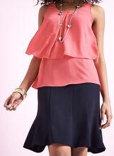 Gored A-Line Skirt , , hi-res