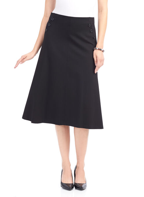 Ponte A-Line Skirt , Black, hi-res