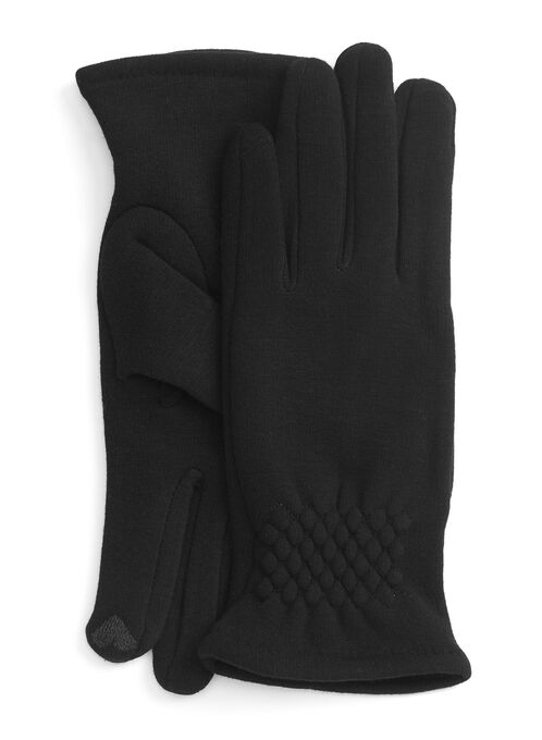 Touch Screen-Friendly Gloves, Black, hi-res