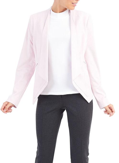 Faux Suede Studded Blazer, Pink, hi-res
