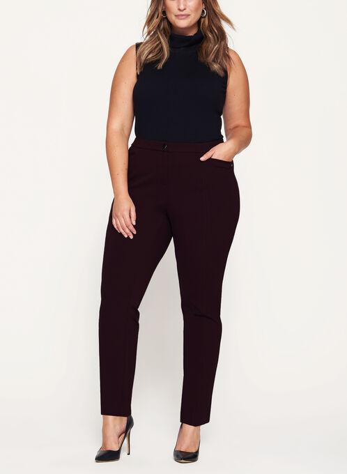 Signature Fit Slim Leg Pants, Purple, hi-res