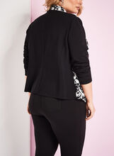 Graphic Print Cascade Blazer, Black, hi-res